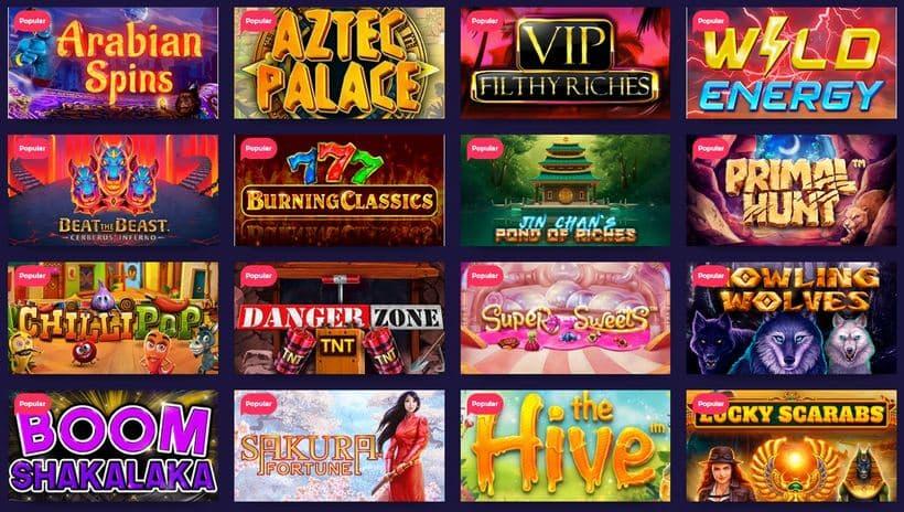 nightrush casino games