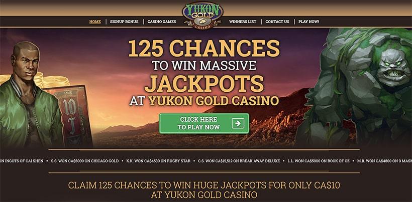 yukon gold casino main